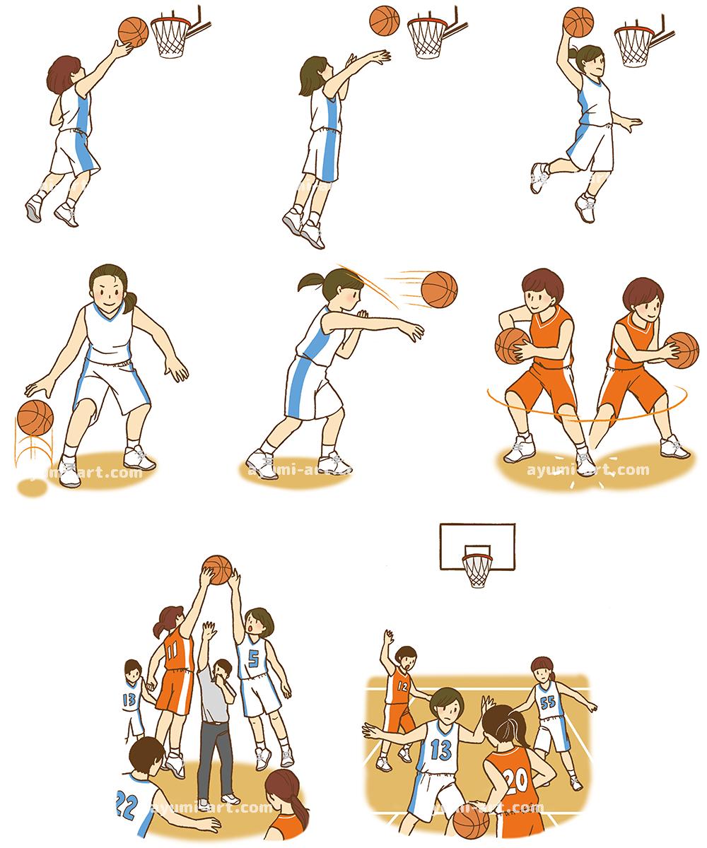 児童書イラスト バスケットボール イラストレーター 多田あゆ実