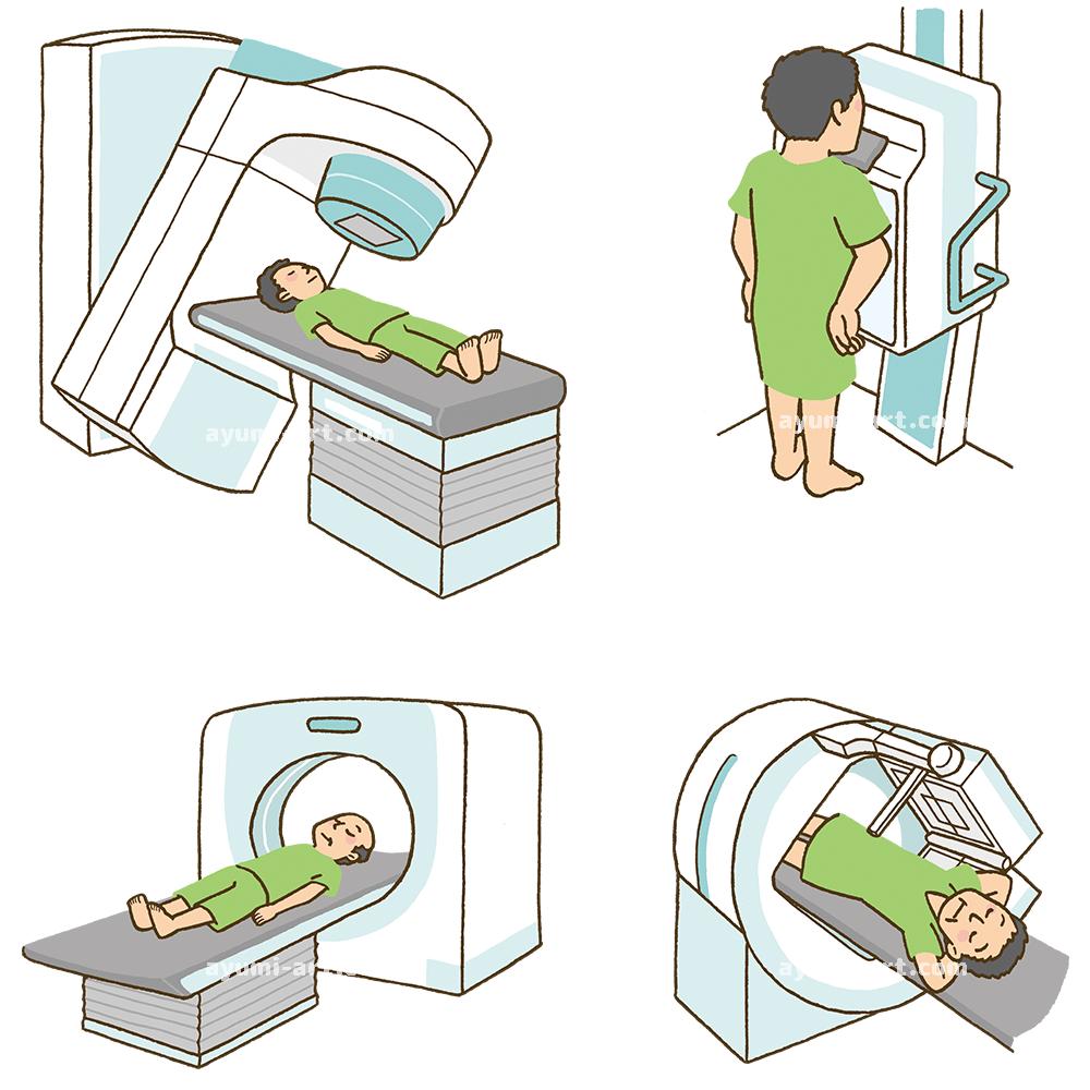 医療イラスト レントゲン MRI イラストレーター 多田あゆ実